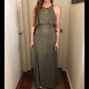 Embellished Neckline Bebe Dress